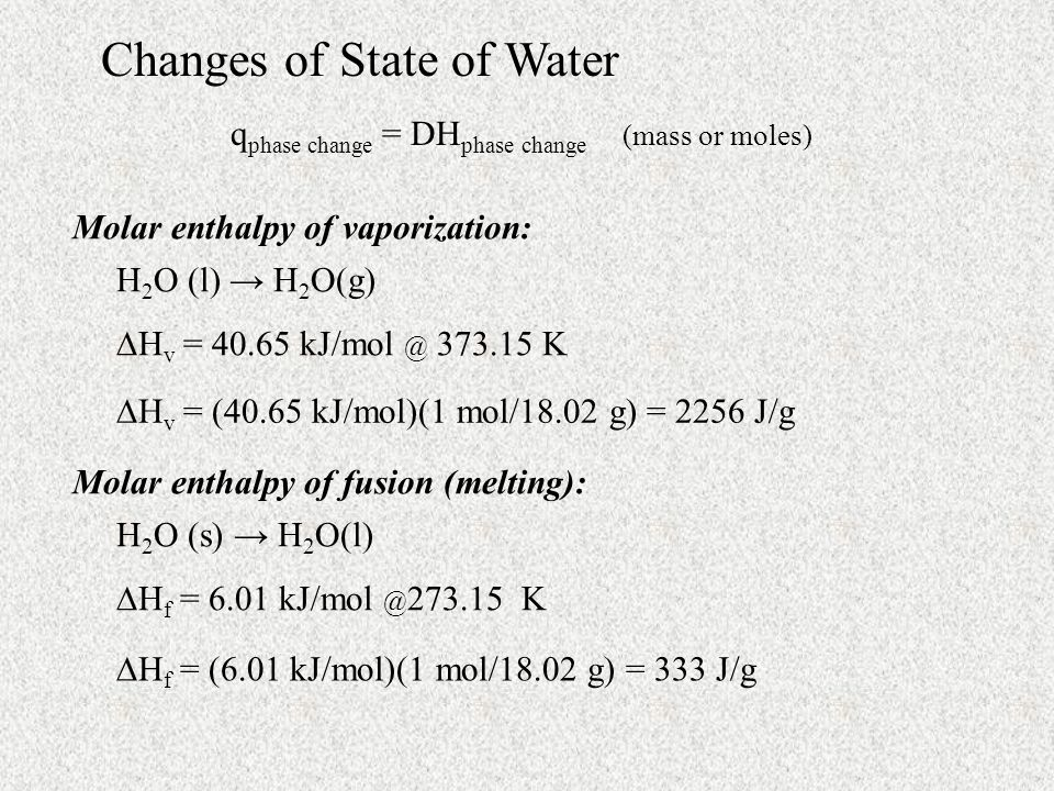 Changes of State of Water