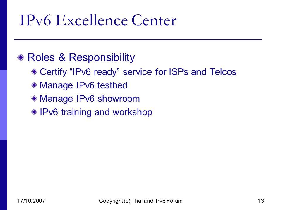 Copyright (c) Thailand IPv6 Forum