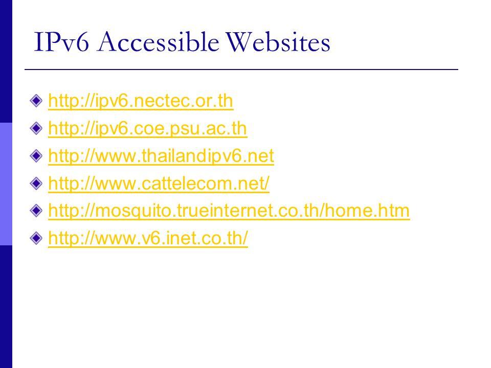 IPv6 Accessible Websites
