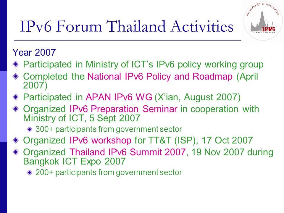 IPv6 Forum Thailand Activities