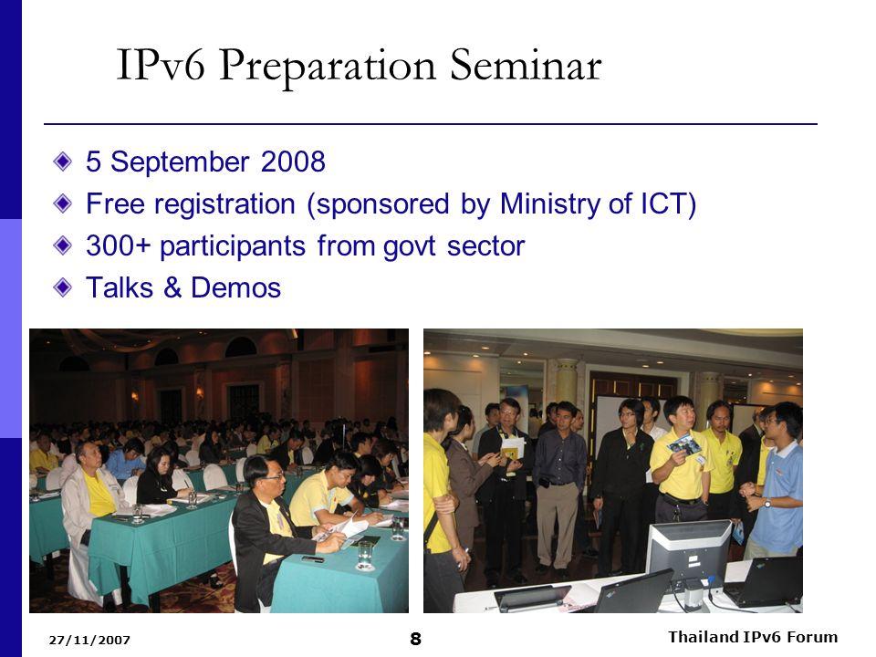 IPv6 Preparation Seminar