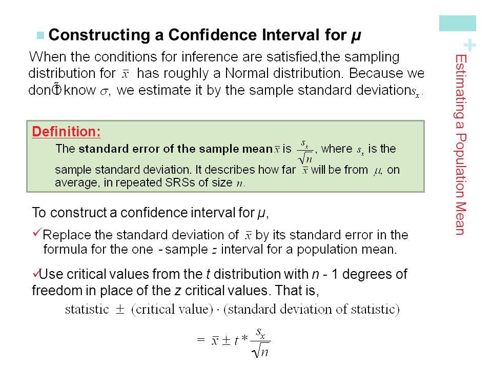 Estimating a population mean ppt video online download estimating a population mean ccuart Images