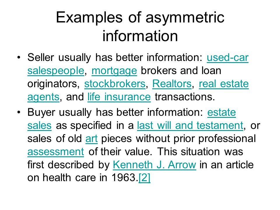 High Risk Car Insurance >> Asymmetric Information - ppt video online download