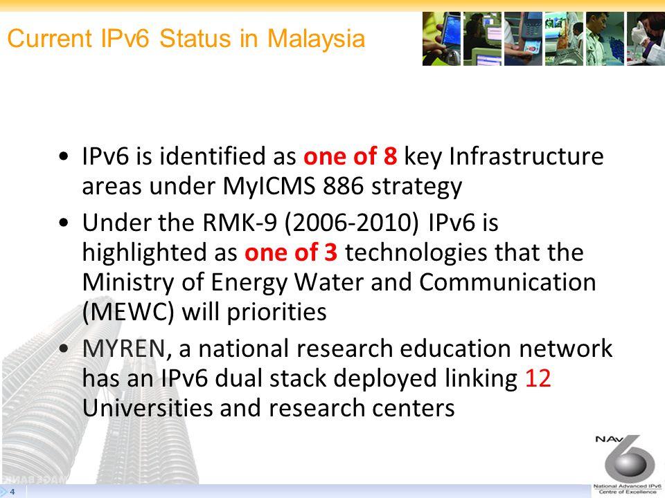 Current IPv6 Status in Malaysia