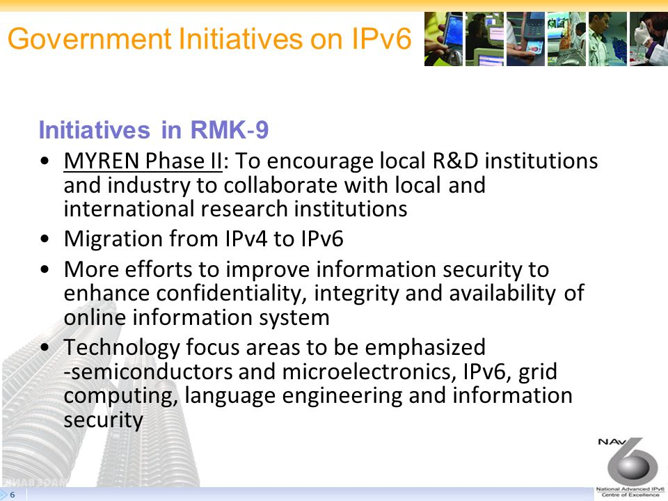 Government Initiatives on IPv6