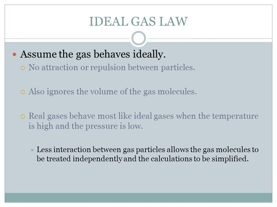 GAS LAWS Chapter ppt download