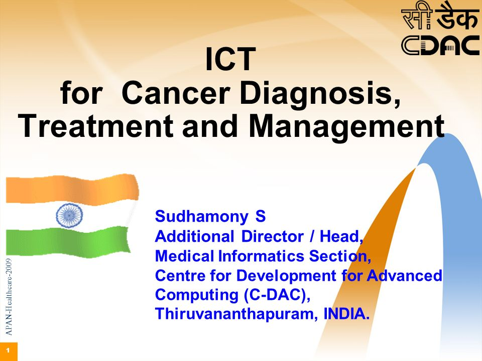 ICT for Cancer Diagnosis, Treatment and Management