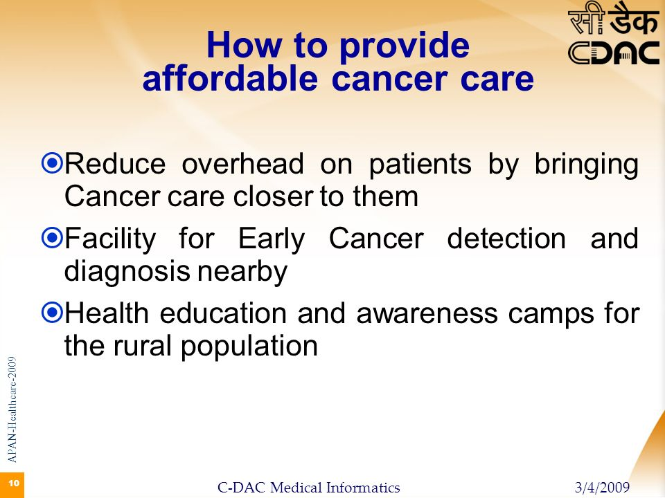 How to provide affordable cancer care