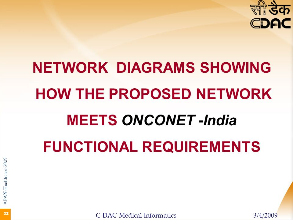 NETWORK DIAGRAMS SHOWING HOW THE PROPOSED NETWORK MEETS ONCONET -India