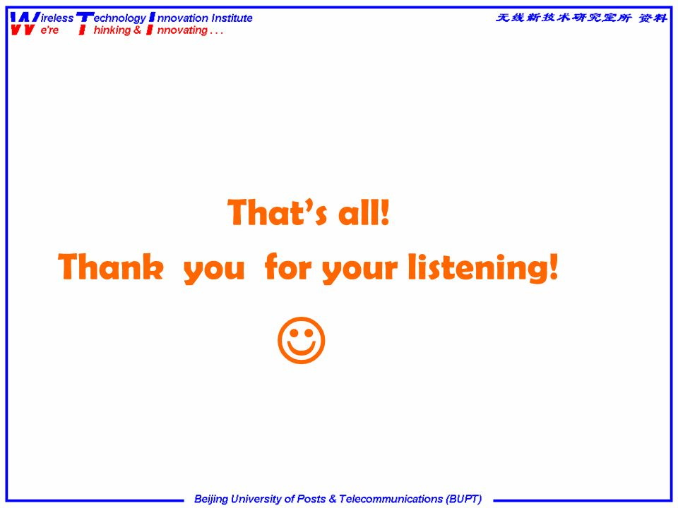 That's all! Thank you for your listening! 