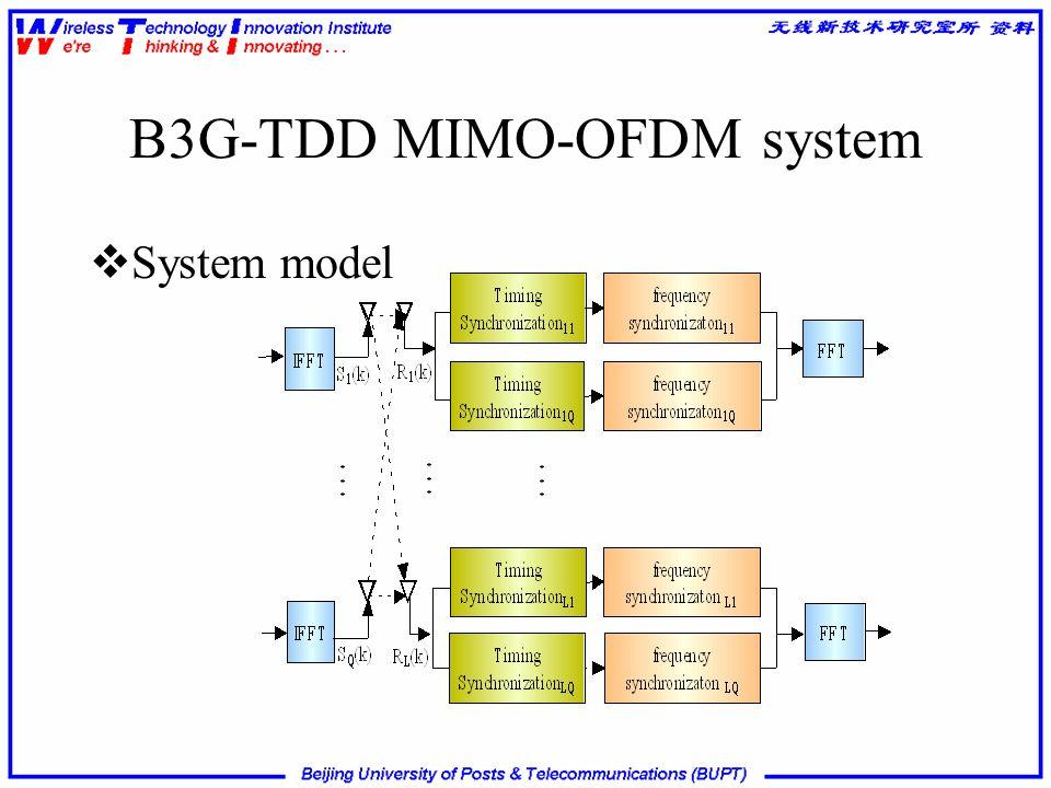 B3G-TDD MIMO-OFDM system
