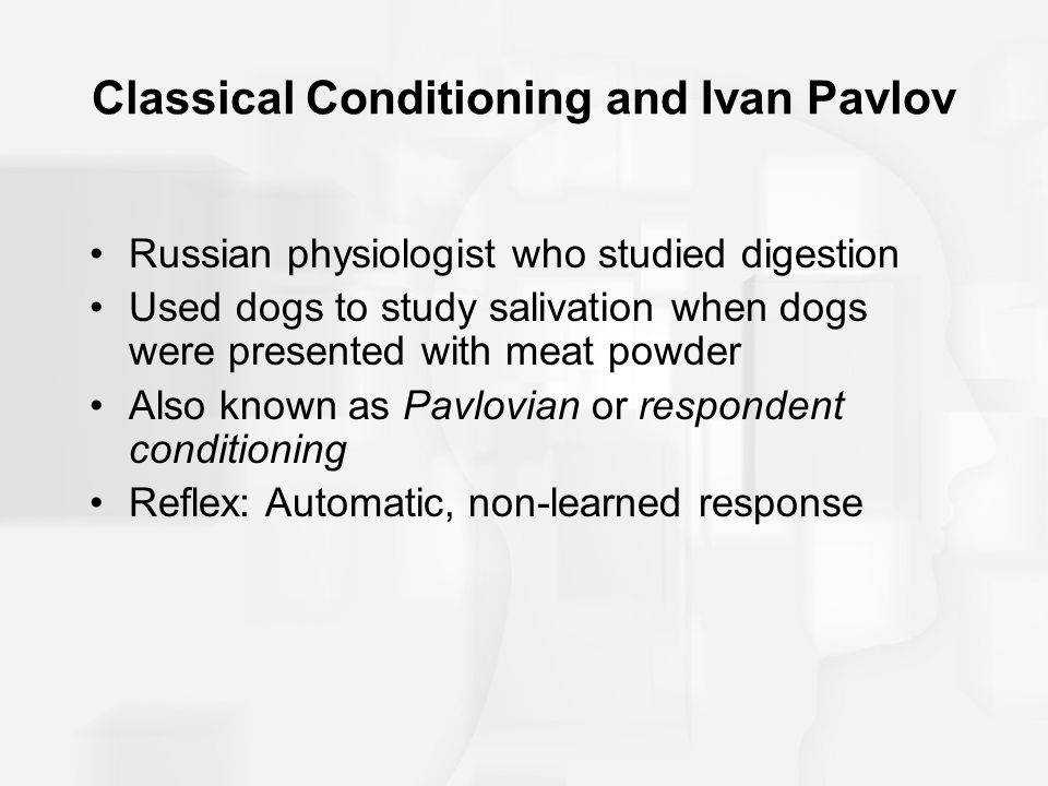 ivan pavlov and classical conditioning Over a century ago, the russian physiologist ivan pavlov made a discovery that   classical conditioning predicts that by repeatedly pairing a.