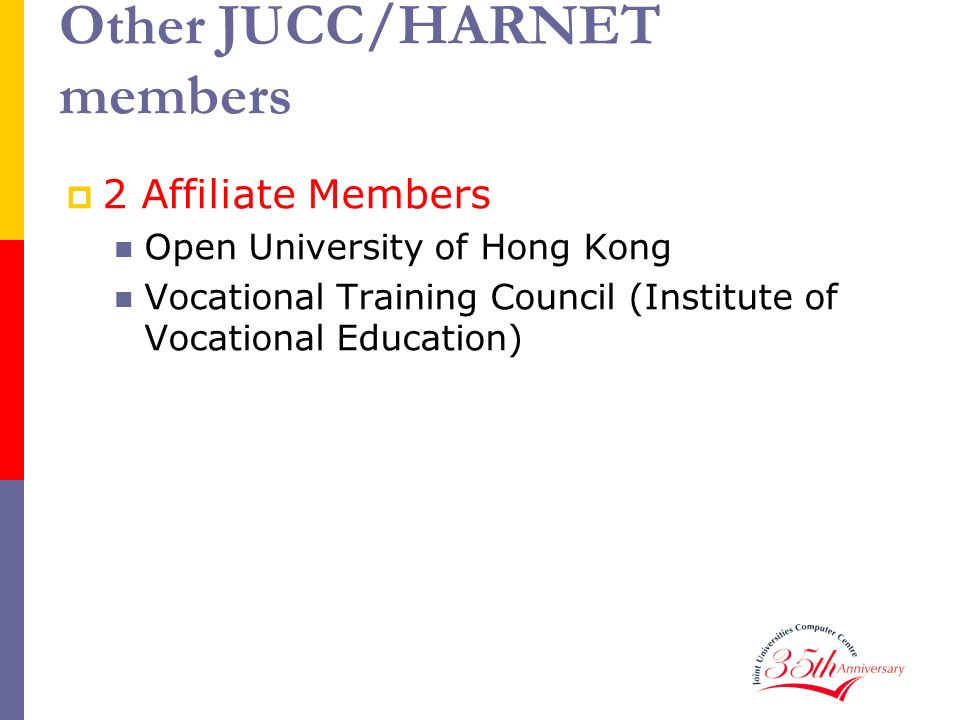 Other JUCC/HARNET members