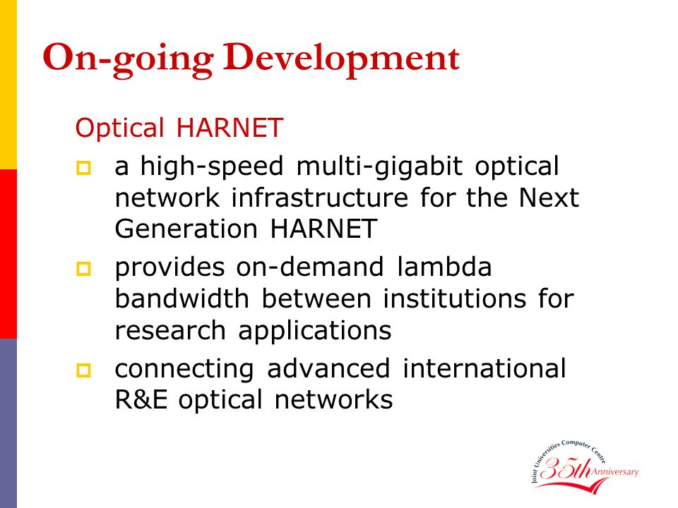 On-going Development Optical HARNET
