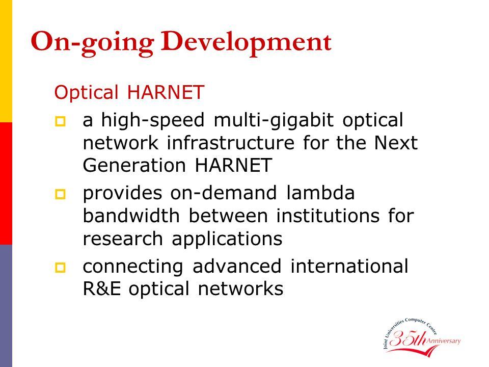On-going Development Optical HARNET