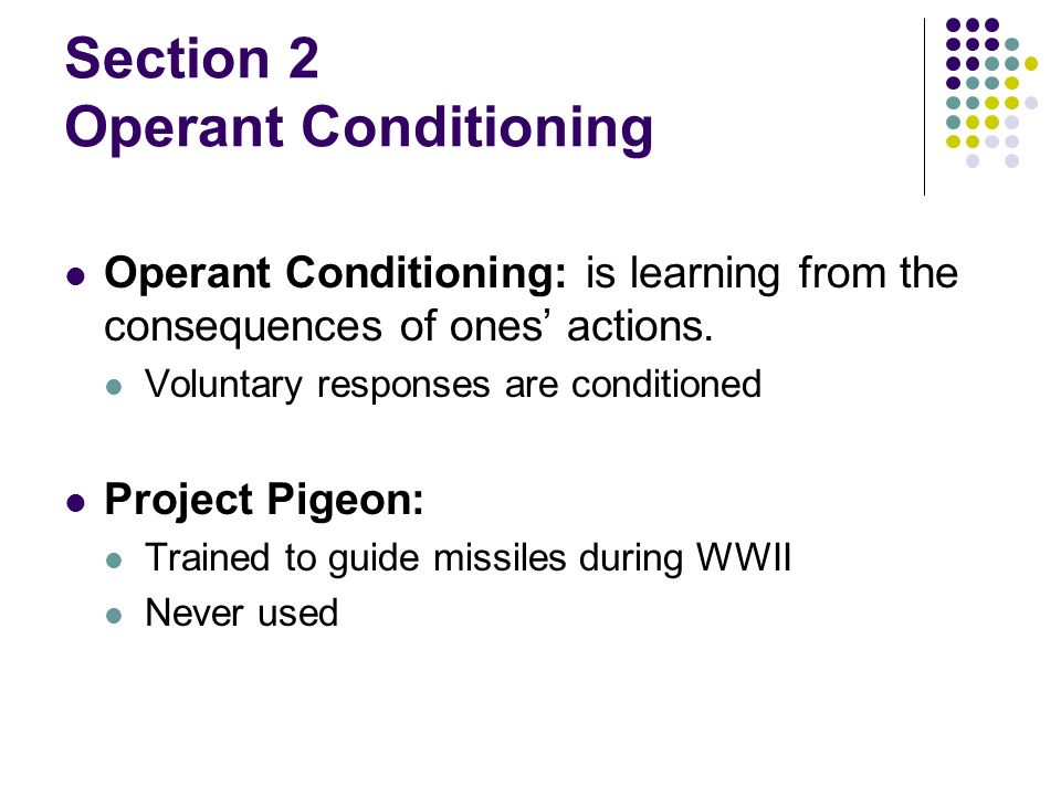 operant conditioning project Operant conditioning project for ap psychology this feature is not available right now please try again later.