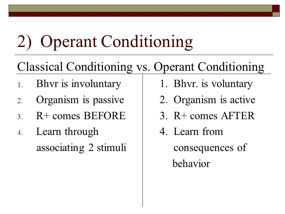 Operant Conditioning Worksheet Monday, May 4 R...