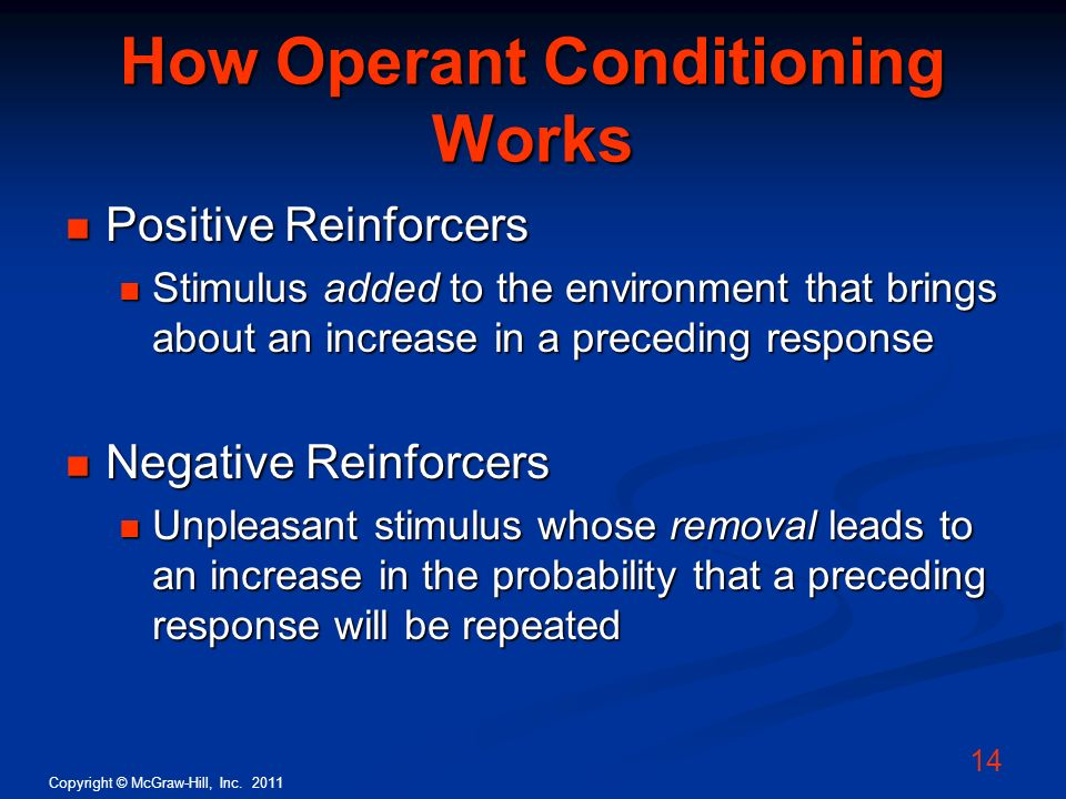 How Operant Conditioning Works