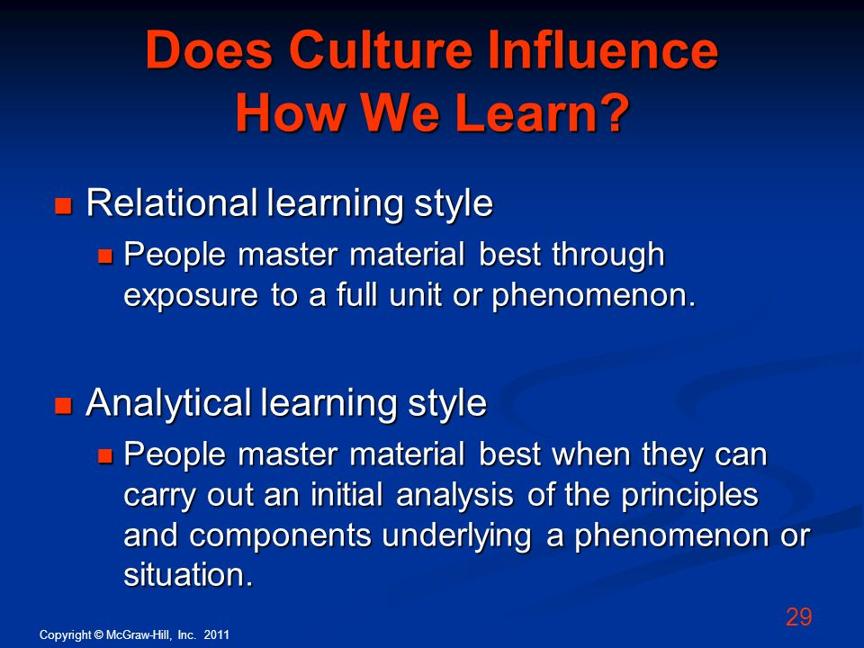 Does Culture Influence How We Learn