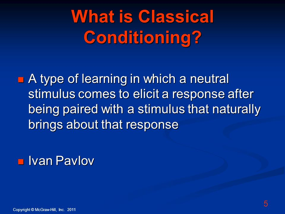 What is Classical Conditioning