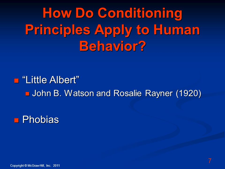 How Do Conditioning Principles Apply to Human Behavior