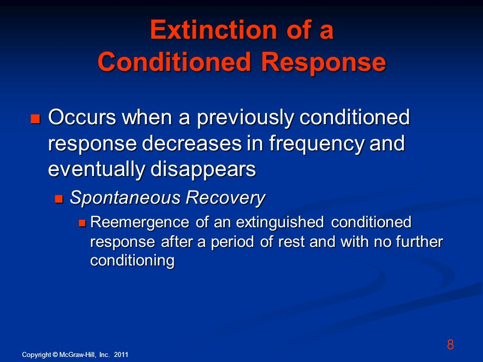 Extinction of a Conditioned Response