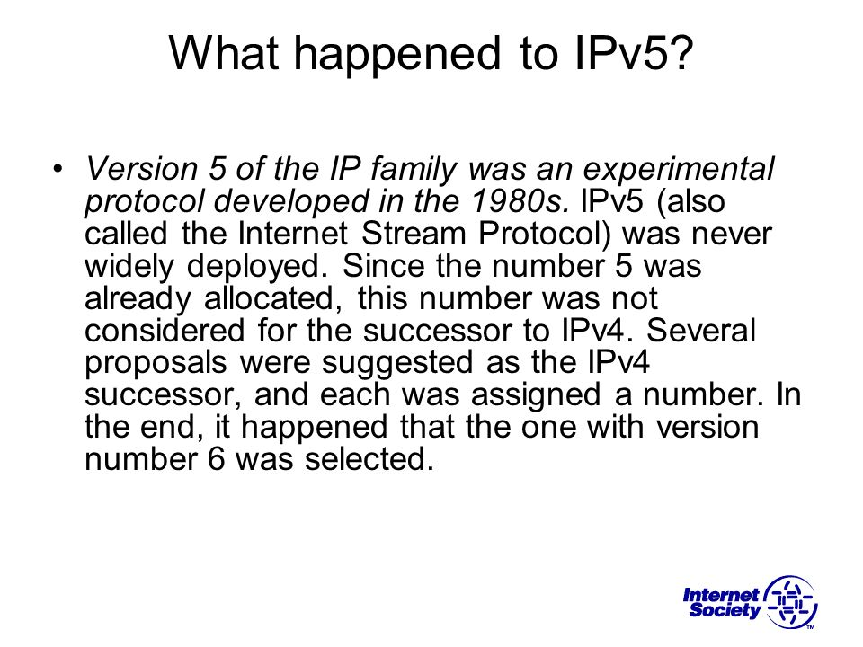 What happened to IPv5