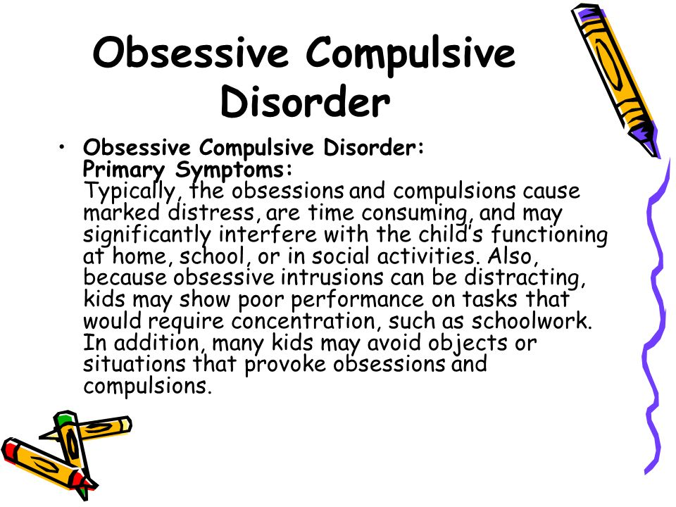 the early symptoms of obsessive compulsive disorder