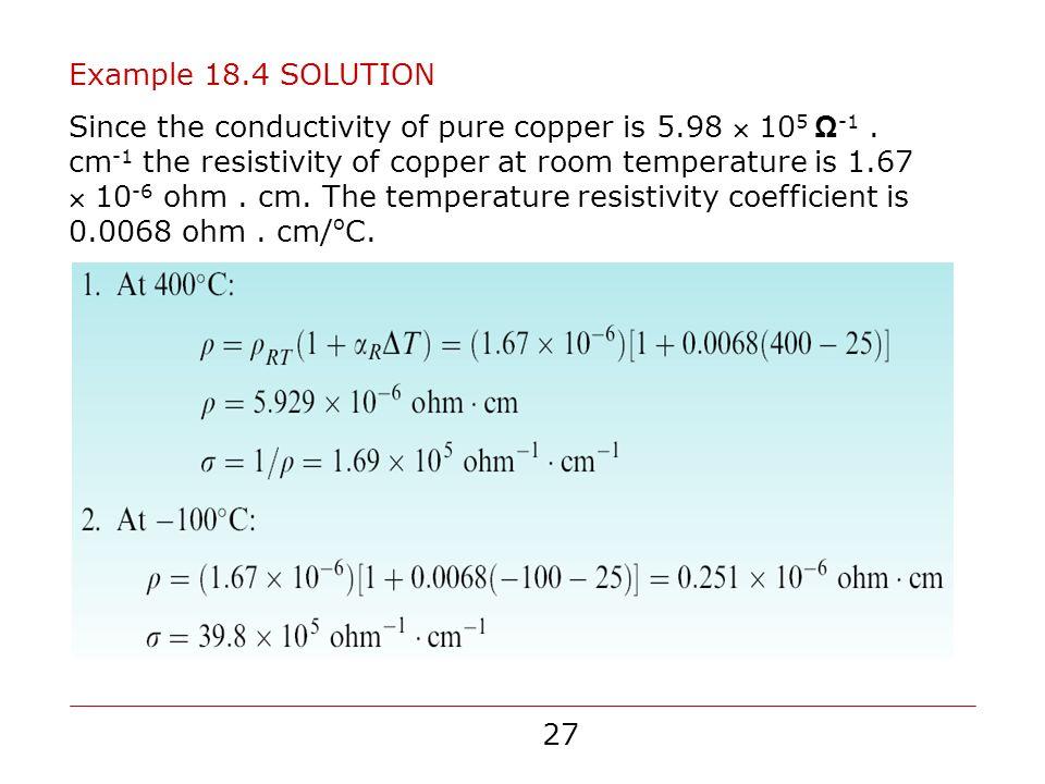 Copper Resistivity At Room Temperature