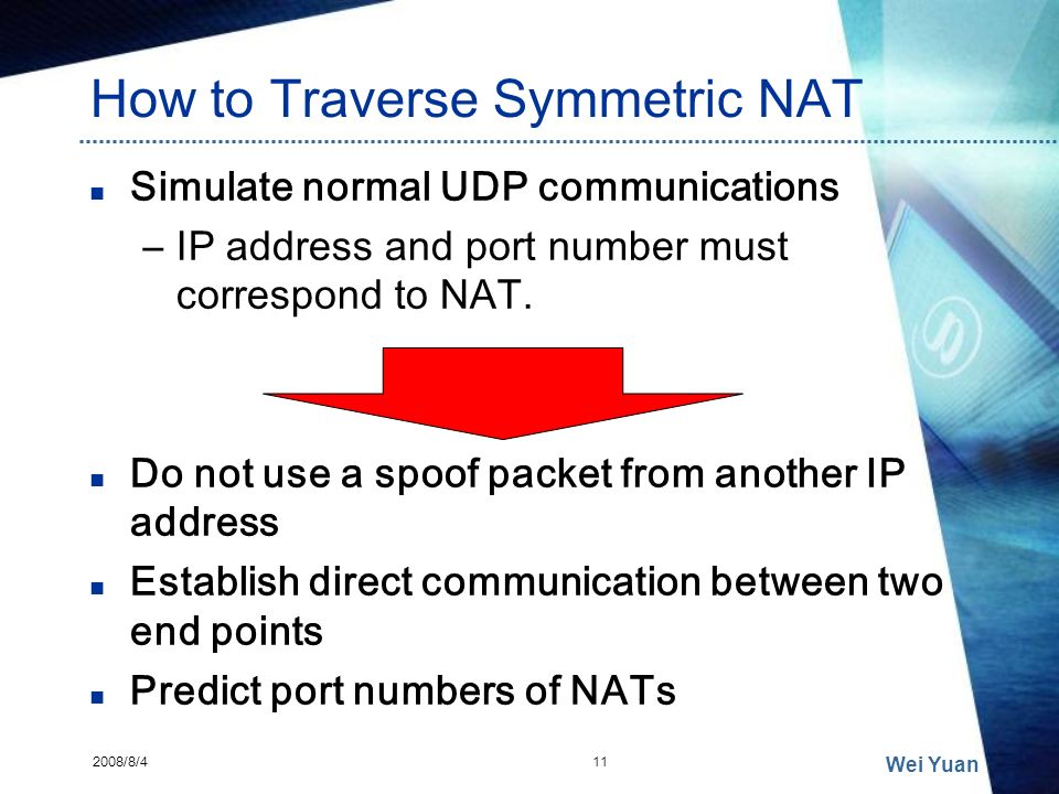 How to Traverse Symmetric NAT