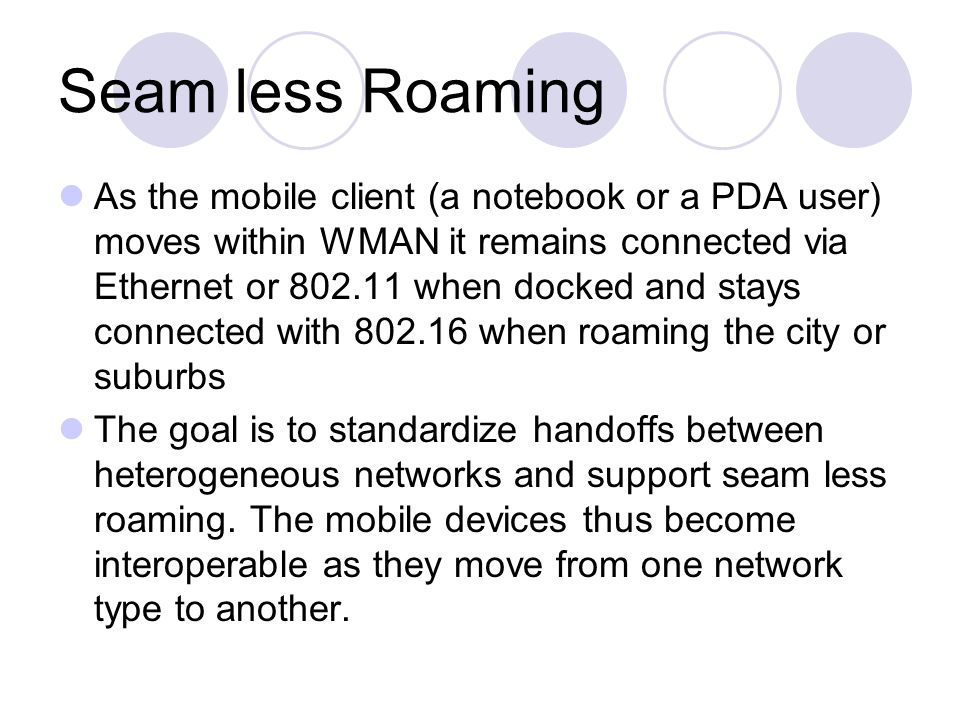 Seam less Roaming