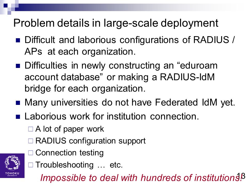 Problem details in large-scale deployment