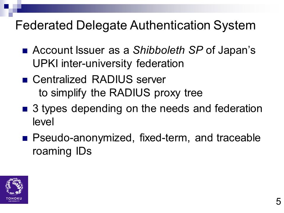 Federated Delegate Authentication System
