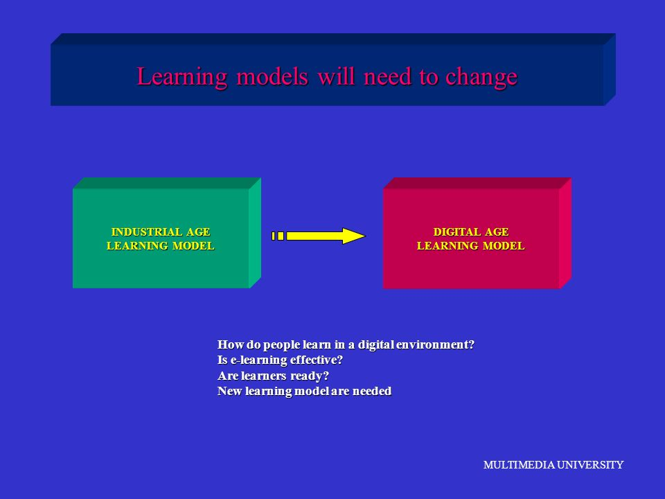 Learning models will need to change