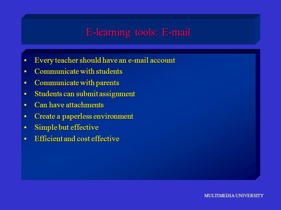 E-learning tools: E-mail