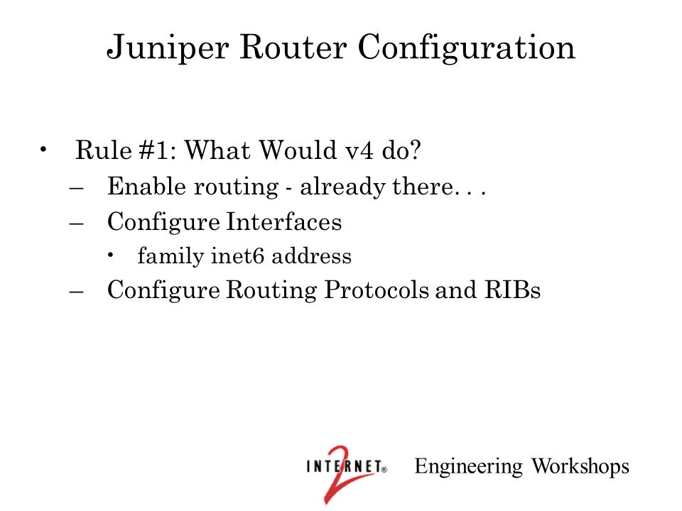 Juniper Router Configuration