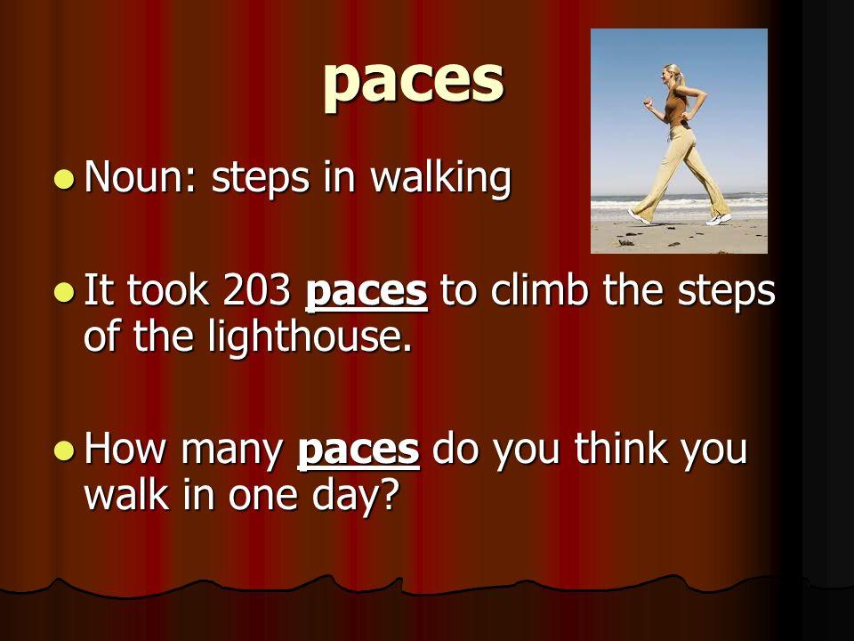 Paces Walking