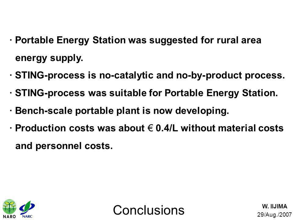 · Portable Energy Station was suggested for rural area energy supply.