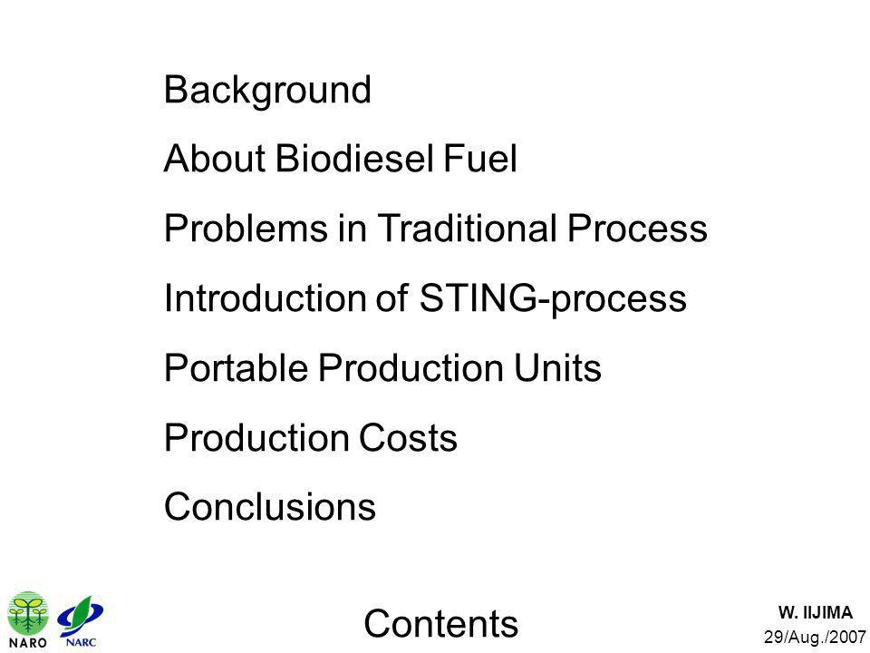 Problems in Traditional Process Introduction of STING-process
