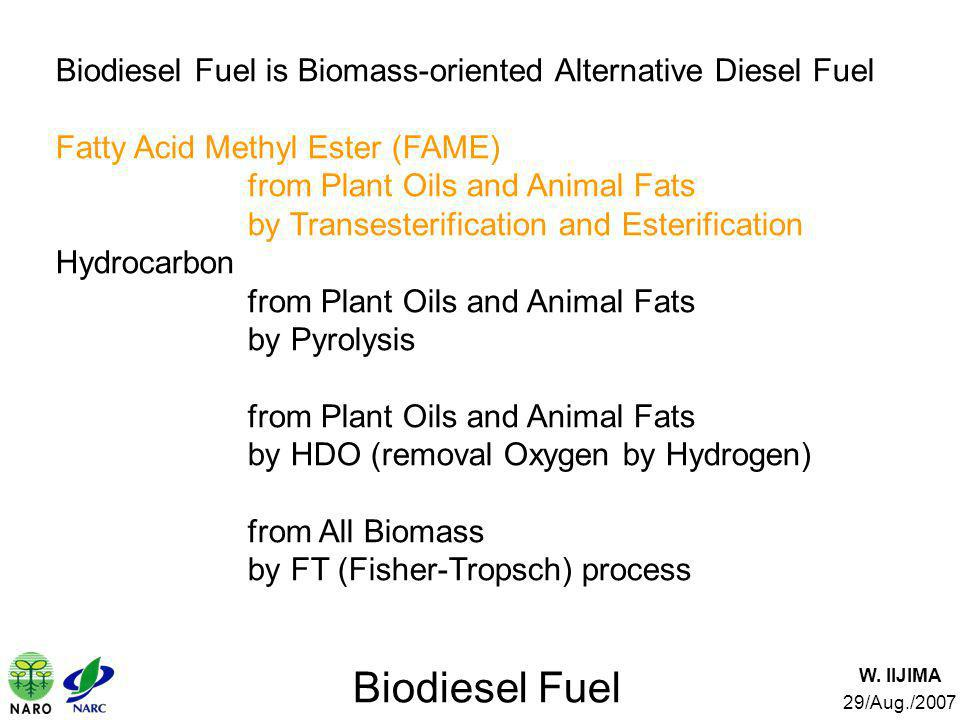 Biodiesel Fuel is Biomass-oriented Alternative Diesel Fuel