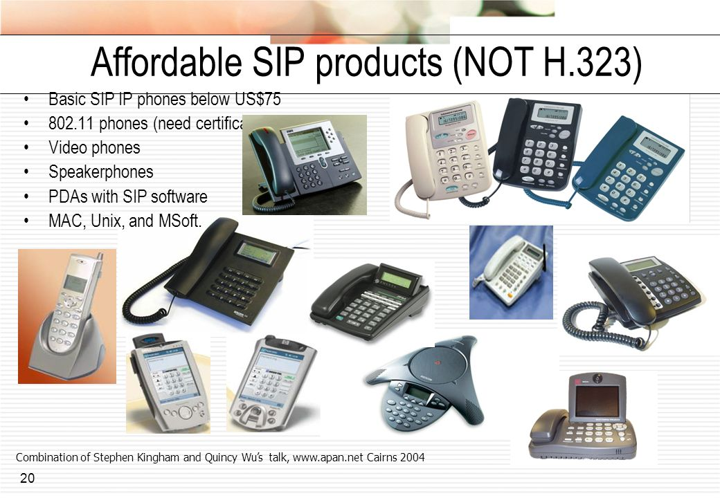 Affordable SIP products (NOT H.323)