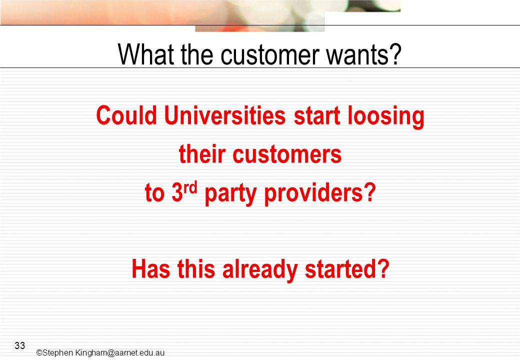 What the customer wants