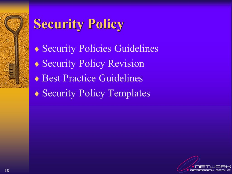 Security Policy Security Policies Guidelines Security Policy Revision