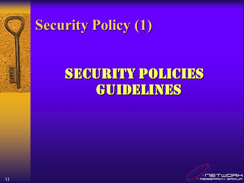 Security Policies Guidelines