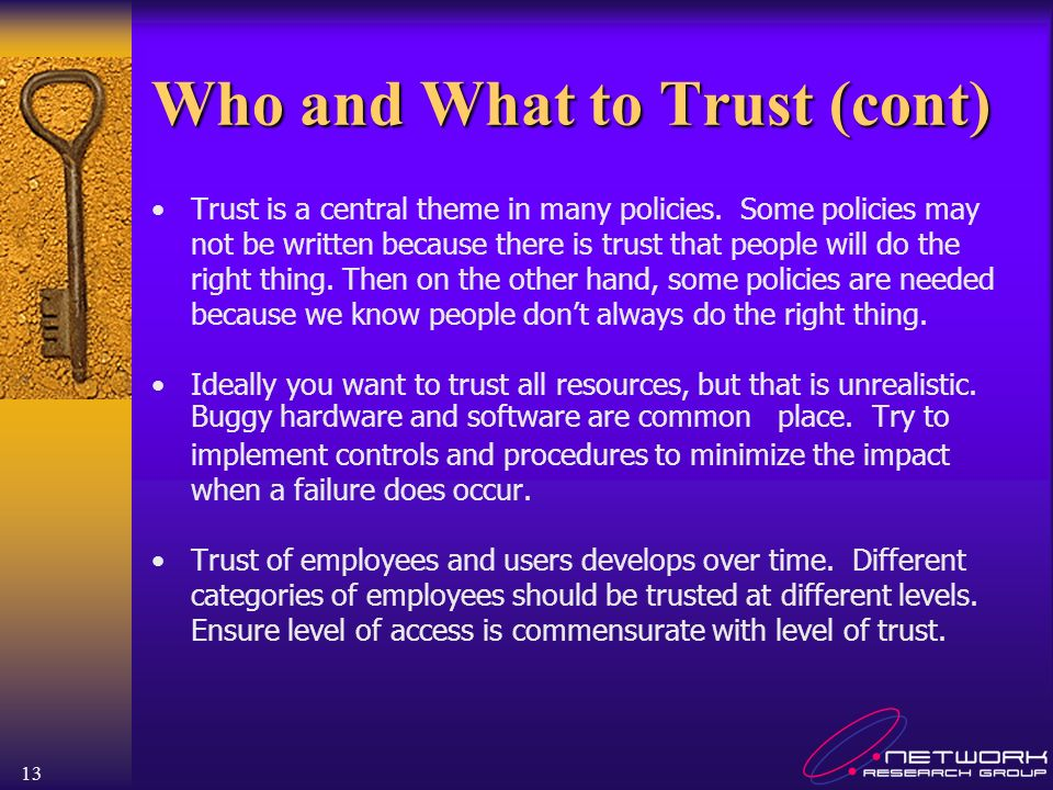 Who and What to Trust (cont)