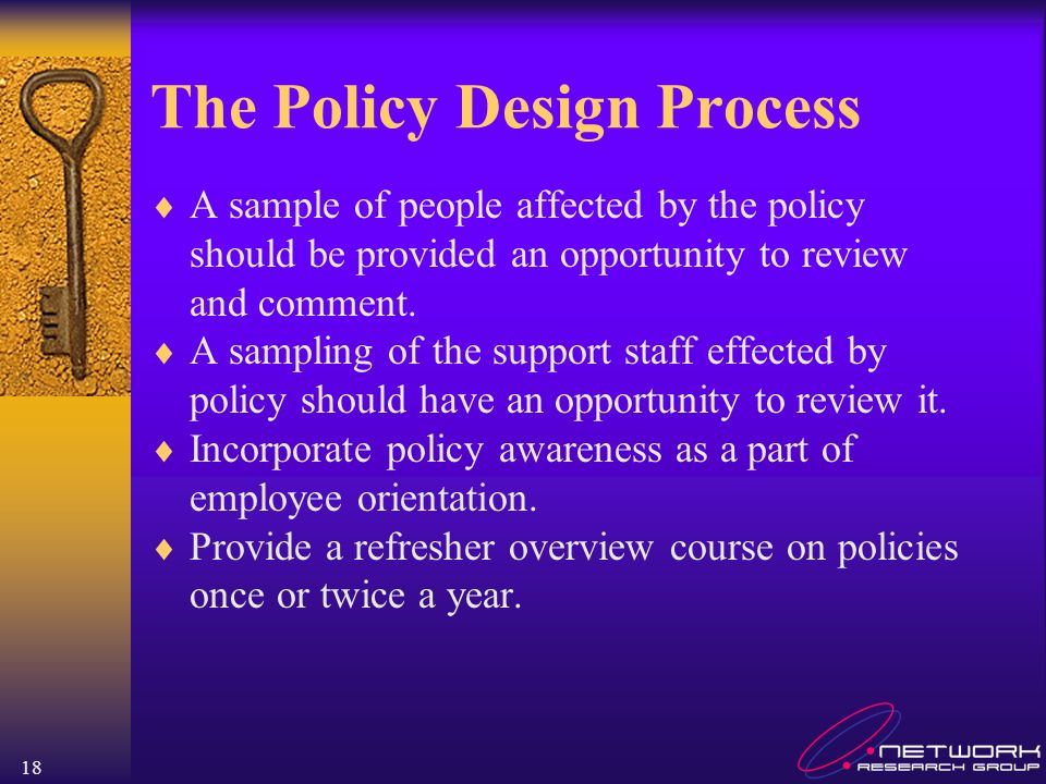 The Policy Design Process