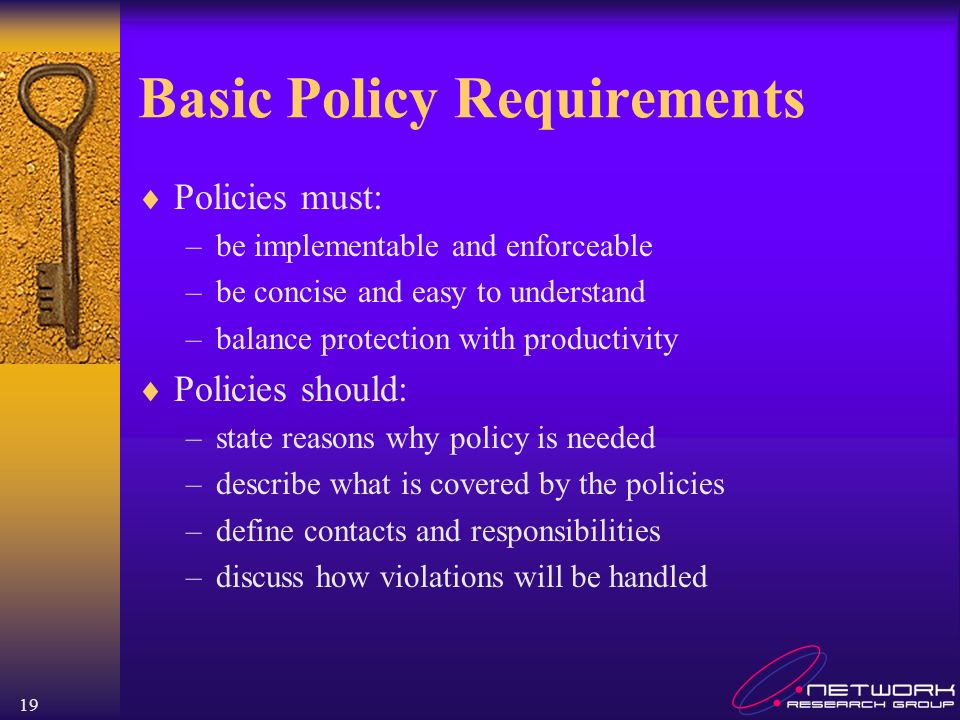Basic Policy Requirements