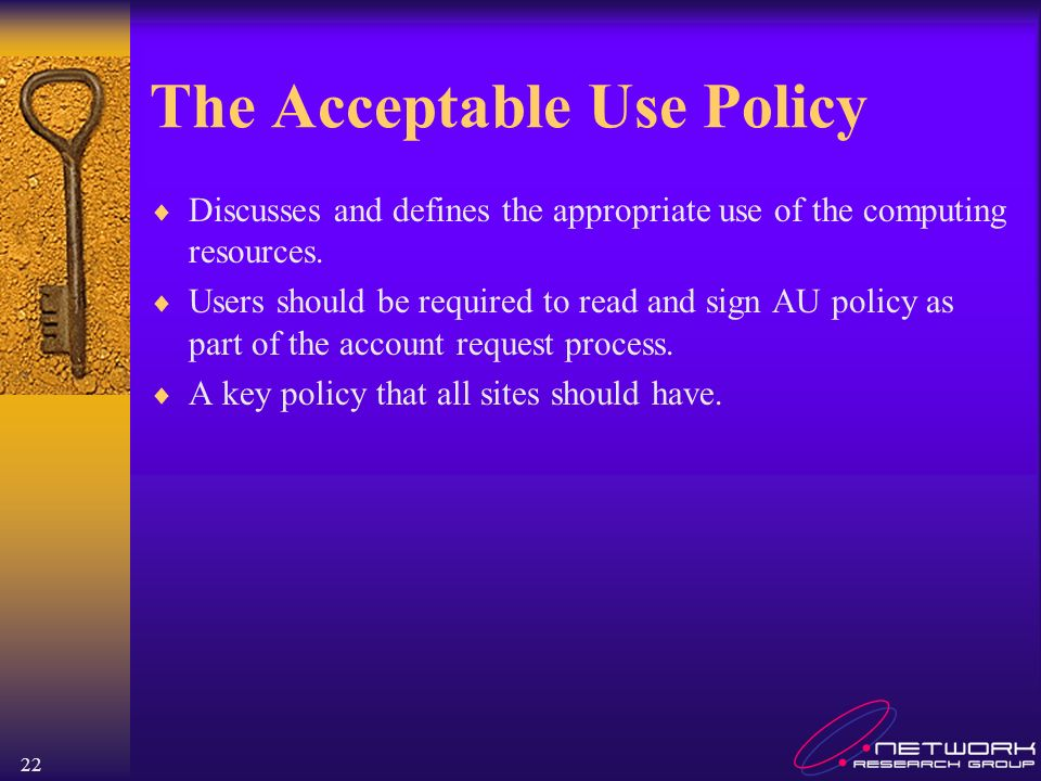 The Acceptable Use Policy