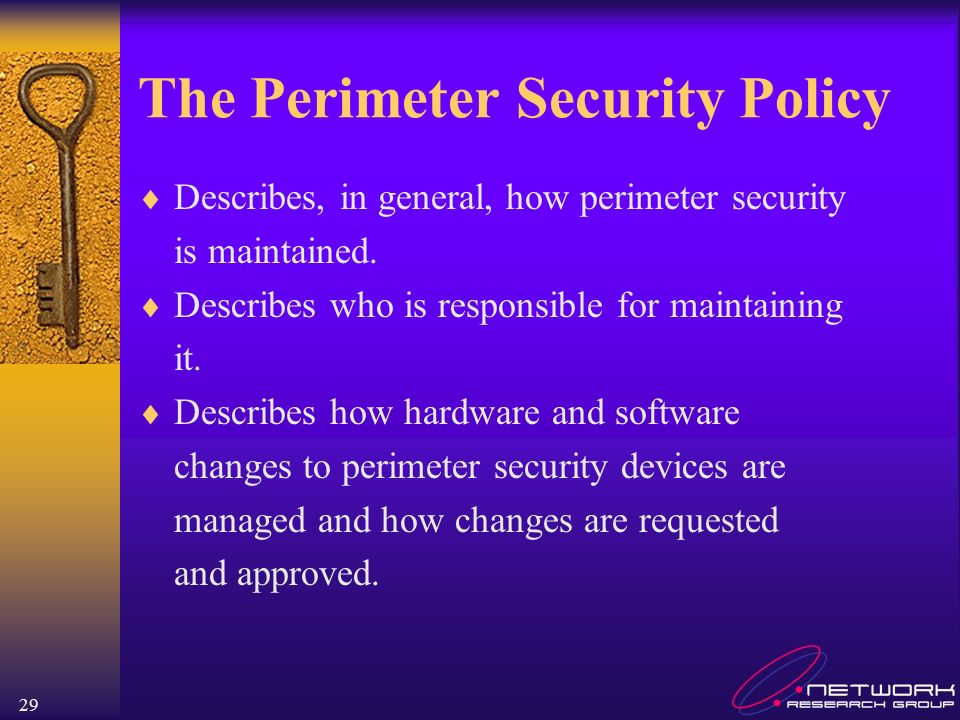 The Perimeter Security Policy