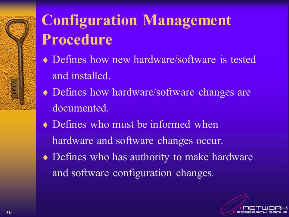 Configuration Management Procedure